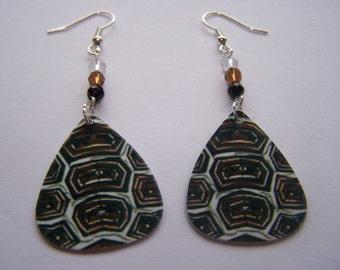 Tortoise Shell - Guitar Pick Earrings
