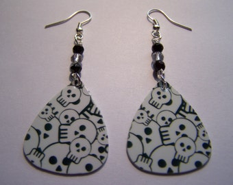 Skulls - Guitar Pick Earrings