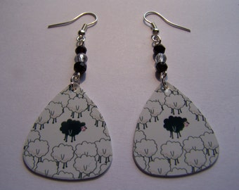 Odd One Out - Guitar Pick Earrings