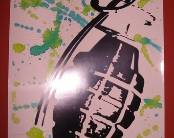 Grenade - 8.5x11 print