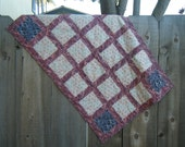 Red Paisley Baby Quilt