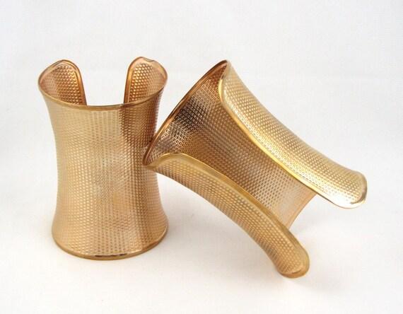 wonder woman bracelets large vintage gold metal cuffs. Black Bedroom Furniture Sets. Home Design Ideas