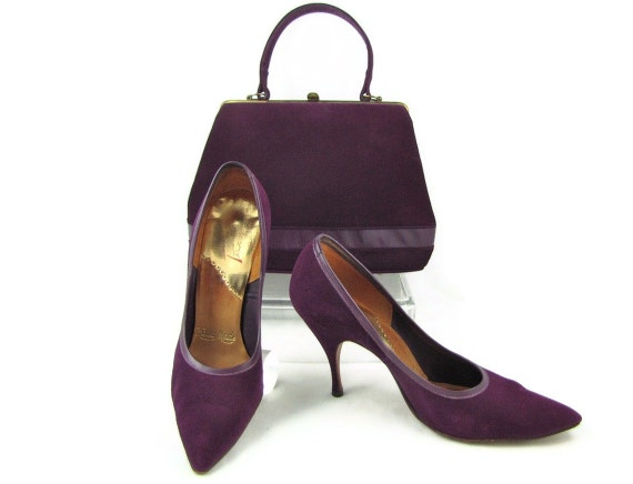 Exquisite Eggplant Vintage 50s Deep Purple by OrbitingDebris