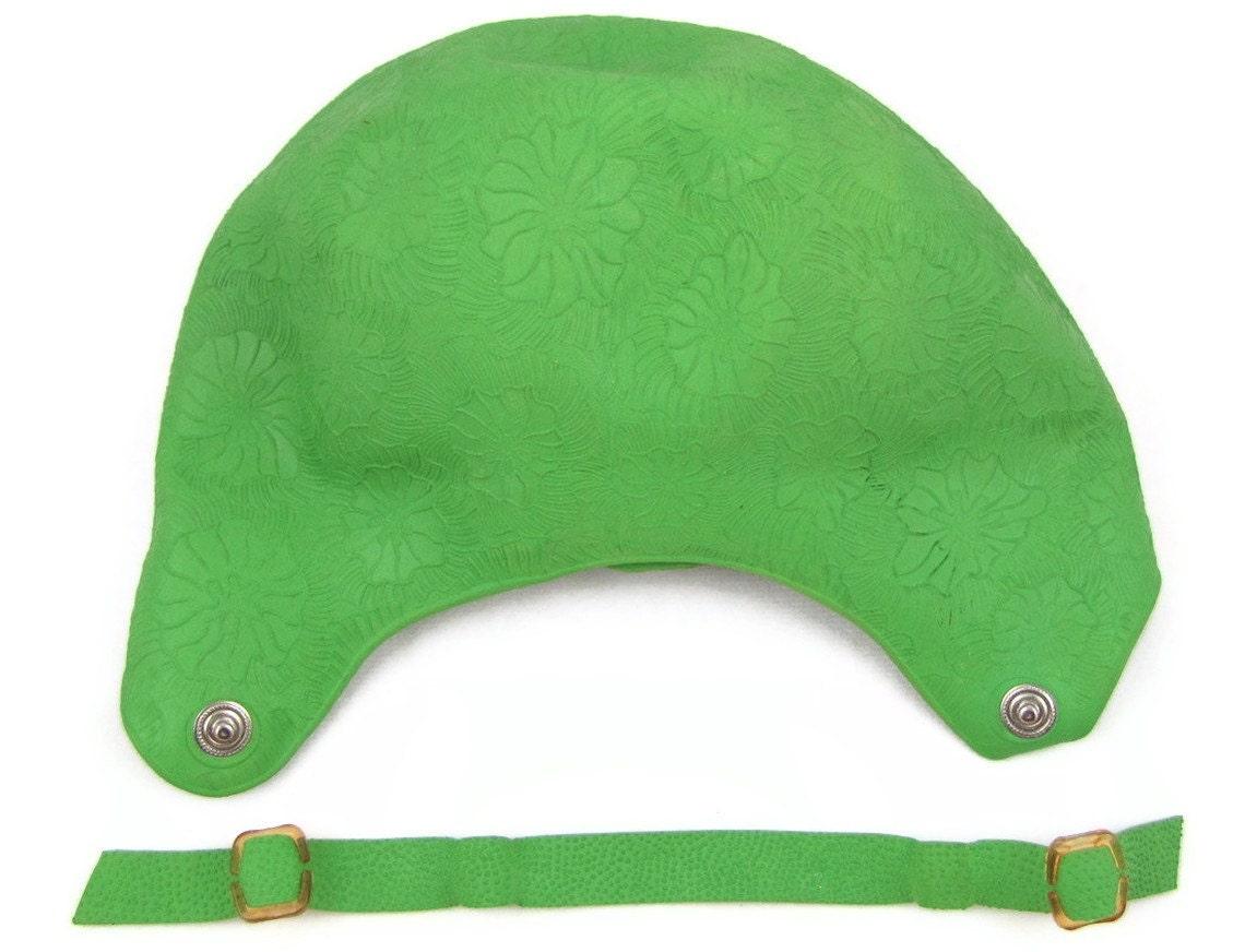 Lap Cap 2 Vintage 1960s Rubber Bathing Cap Bright Green
