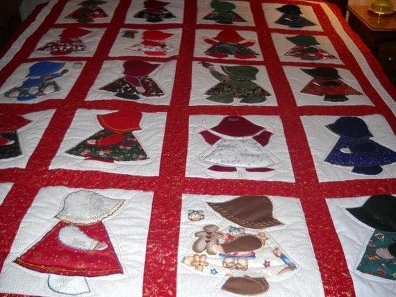 Items Similar To Christmas Quilt Little Dutch Girl