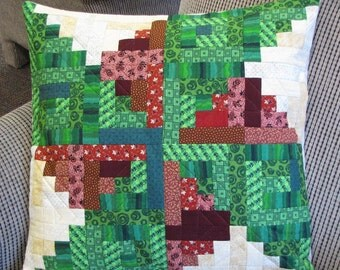 Pinwheel Log Cabin Pillow Cover 20x20
