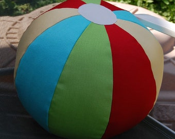CUSTOM Fabric Beach Ball 12-inch MADE For YOU