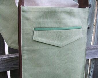 Sage Green Messenger Bag