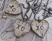Hugs and Kisses Heart Necklace