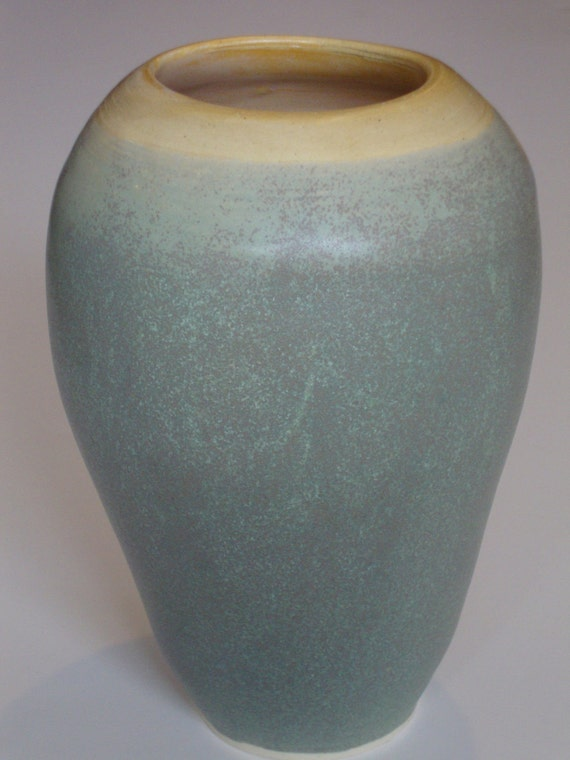 Item 128 Opal Green and Shell Vase