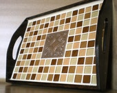 Sophistication (Glass Tile Serving Tray)