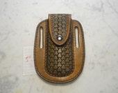Folding Knife Leather Case-Sheath Custom Tooled