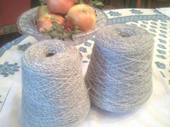 DRIFT 80/20 Superwash Merino/Nylon Sock Yarn - Light Gray - 515-gram cone