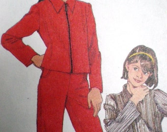 Pattern - McCalls  8544 - Girls Jacket, Skirt, and Pants - size 7, 8, 10 - for Fall - for Back to School
