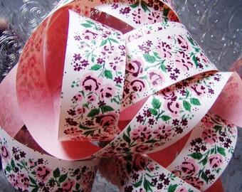 Ribbon - Reversible - 1 1/4 inch - Roses