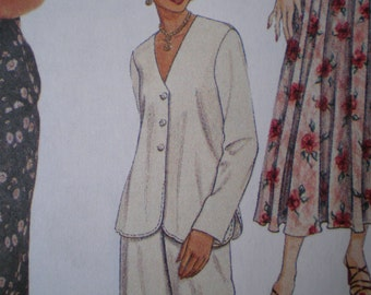 Easy McCall's Pattern 8061 - Misses Top, Skirt and Pants - Sizes 4, 6