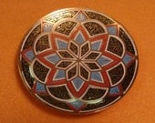 vintage BRASS dish moroccan pattern