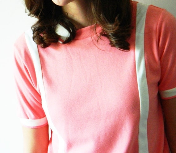RESERVED for Almut-Coral 80s Tennis Blouse