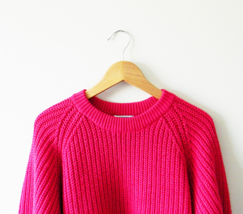 Hot Pink Oversized Sweater