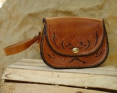 Louisa May ALCOTT HANDBAG Handmade Leather Medium Brown