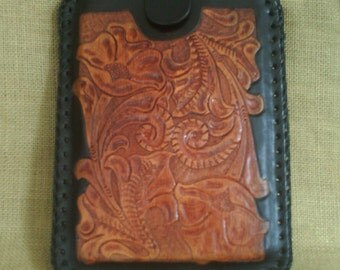 HANDMADE Leather TABLET CASE  Antique Brown and Black