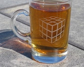 Shot glass with handle Rubiks cube or Transformer autobot or any other design you want
