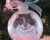 Custom Pet, Cat, Dog  Portrait Ornament