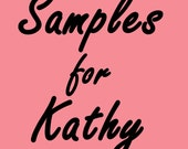 This listing is for Kathy from kathysimpressions.