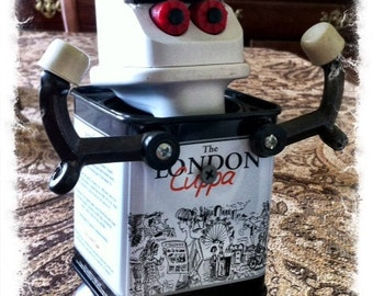 London the Olympician - Robot Art Assemblage Found Reclaimed- Recycled Art