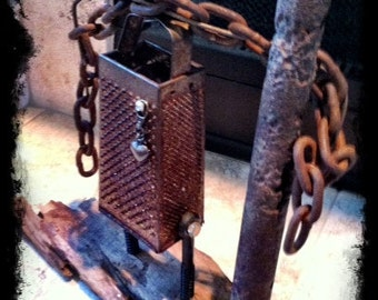 Slave of Rust - Robot Art Assemblage Found Reclaimed- Recycled Art
