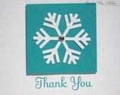 Handmade Christmas Thank You Greeting Card