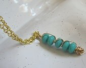 Turquoise Column Necklace