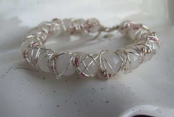 White and Pink Cuff