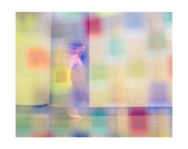 The Pursuit of Happiness, colorful abstract dancer, digitally created original fine art archival print