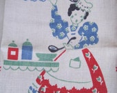 Vintage Broderie Towel Cook in the Kitchen