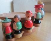 SALE Vintage Coasters Wooden Stacking Set