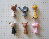 Vintage Candle Holders Zoo Animals