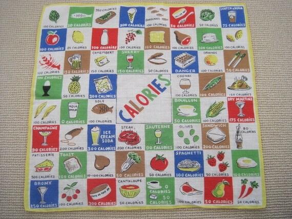 MINT Calorie Counting Vintage Handkerchief