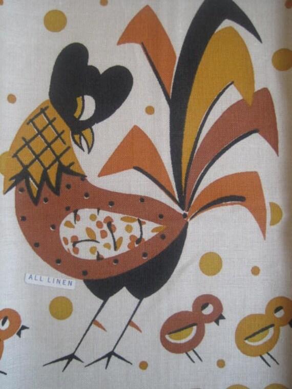 Vintage Towel Chicken Mint
