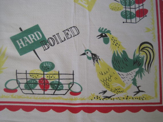 Vintage EAMES Chicken Egg Tablecloth