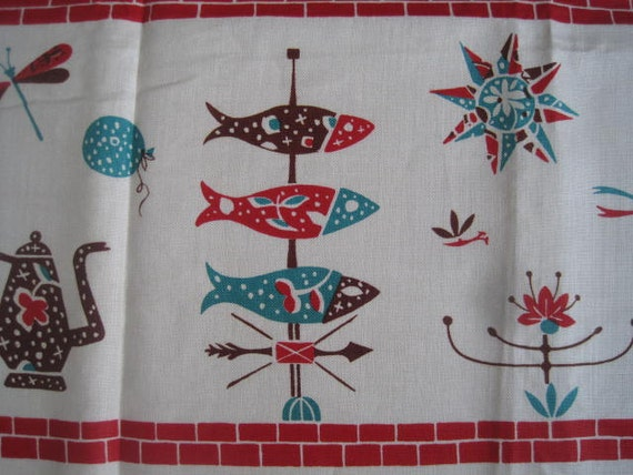 RESERVED Vintage Tablecloth FALFAX Weathervane