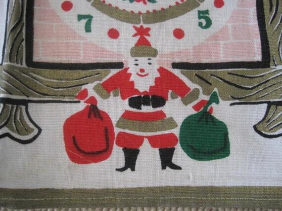 Vintage Christmas Tea Towel RARE