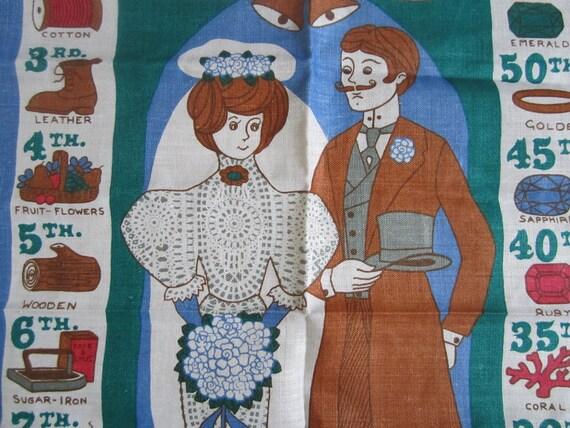 B-I-G Vintage Towel Wedding Anniversaries Ulster