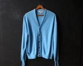 Cardigan Sweater Mens Light Blue Vintage from Nowvintage on Etsy