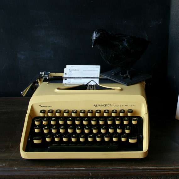 Portable Manual Typewriter Remington Quiet-riter Yellow and Black From NowVintage on Etsy