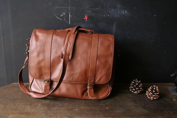 Messenger shoulder Bag Leather Natural Vintage From Nowvintage on Etsy