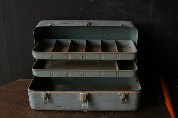 Fishing Tackle Or Tool Box 1950s Vintage from Nowvintage on Etsy