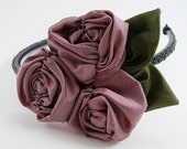 Ruched Roses Fabric Flower Pattern ...  Flower Tutorial no. 14