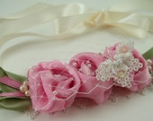 Fabric Flower Headband Tutorial PDF ... instructions for ribbon headband, roses and butterfly