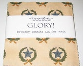 Glory Charm Pack by Kathy Schmitz for Moda 27 fabric squares